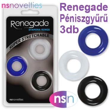 renegade péniszgyűrű 3 db
