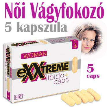 Exxtreme Libido * 5 kapszulás - Női vágyfokozó - 1 doboz