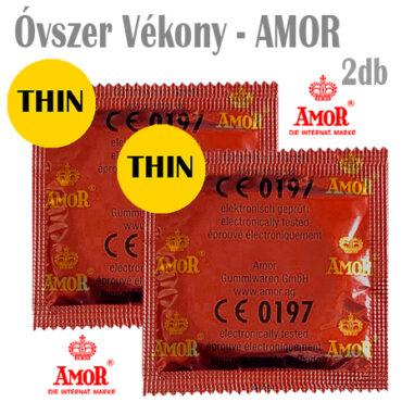 Óvszer Vékony - AMOR - 2db